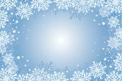 Blue christmas card. Christmas-card  background with snowflakes Stock Photography