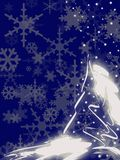 Blue christmas card Stock Photography