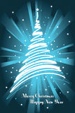 Blue christmas card background Royalty Free Stock Photography