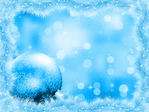 Blue christmas card with copy sace. EPS 8 Royalty Free Stock Photos