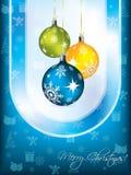 Blue christmas card design Stock Photo