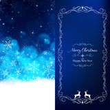 Blue Christmas card divide 2 pages vector illustration