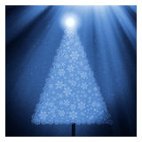Blue christmas card. Illustration of a blue atmospheric christmas card stock illustration