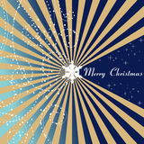 Blue Christmas card - Merry Christmas Royalty Free Stock Photo