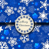 Blue christmas card with snowflakes Royalty Free Stock Photo