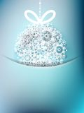 Blue christmas card with snowflakes Stock Images