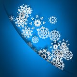 Blue christmas card with snowflakes. + EPS10 Stock Photography