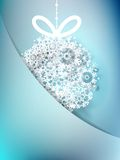 Blue christmas card with snowflakes. + EPS10 Stock Images