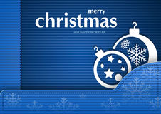 Blue Christmas Card Stock Image