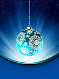 Blue Christmas card template. EPS 8 Royalty Free Stock Image