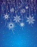 Blue christmas card, vector Royalty Free Stock Photos
