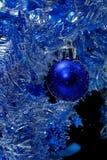 Blue christmas card Royalty Free Stock Photos