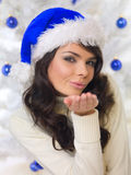 Blue Christmas Chick Stock Photography