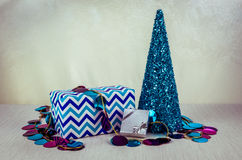 Blue christmas concept Stock Photography