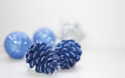 Blue christmas cone Royalty Free Stock Photos