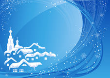 Blue Christmas country Royalty Free Stock Image