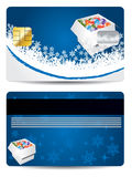 Blue christmas credit card design Stock Images