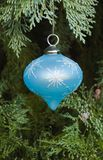 Blue christmas decoration Royalty Free Stock Photography