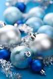Blue christmas decoration Royalty Free Stock Photos