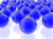 Blue christmas decoration Stock Photos