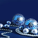 Blue Christmas decoration background Royalty Free Stock Image
