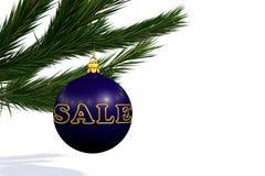 Blue Christmas decoration ball  sale Stock Image