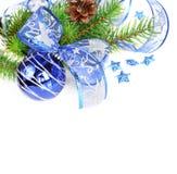 Blue Christmas decoration Stock Photos