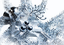 Blue christmas decoration deer Stock Image