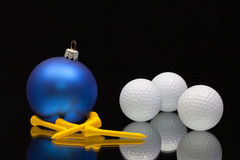 Blue Christmas decoration a golf balls Stock Image