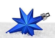 Blue christmas decoration Stock Photo