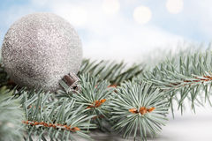 Blue christmas decoration Stock Photography