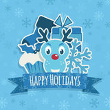 Blue christmas decoration Stock Images