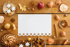 Blue Christmas decoration on wood Stock Images