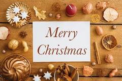 Blue Christmas decoration on wood Royalty Free Stock Photo