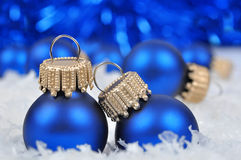 Blue christmas decorations Royalty Free Stock Photography