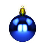 Blue christmas decorations isolated on white Stock Image