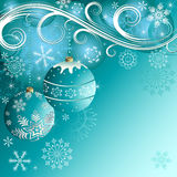 Blue christmas decorative background Royalty Free Stock Image
