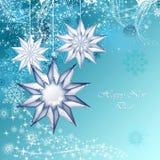 Blue christmas decorative Royalty Free Stock Photography