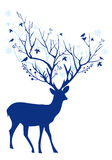 Blue Christmas deer, vector Royalty Free Stock Images