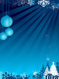 Blue christmas design Stock Photos