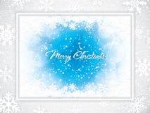 Blue Christmas design, snowy background stock illustration