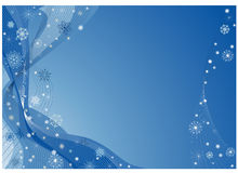 Blue christmas fantasy Royalty Free Stock Images