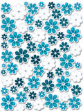 Blue Christmas flowers Royalty Free Stock Image