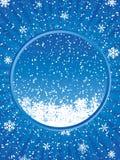 Blue Christmas frame Stock Photos