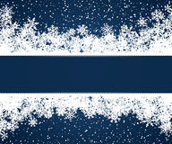Blue Christmas frame Royalty Free Stock Photography