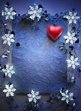 Blue christmas frame Royalty Free Stock Images
