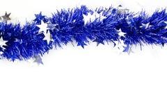 Blue christmas garland Royalty Free Stock Image