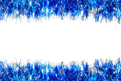 Blue Christmas garland border Royalty Free Stock Image