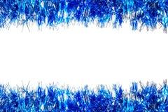 Blue Christmas garland border Royalty Free Stock Image