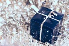 Blue christmas gift Stock Photo